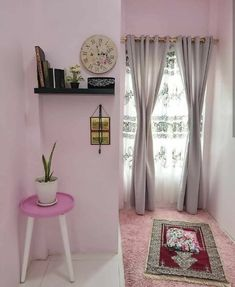 30 Praying Room Ideas To Bring Your Ramadan More Beautiful - Homemydesign Indian Room, Indian Home Decor, Beautiful Home Designs, Beautiful Homes, Home Room Design, House Design, Prayer Corner, Living Room Decor, Bedroom Decor