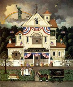 Lady Liberty's Independence Day  by Charles Wysocki-  I think this is really beautifully done.