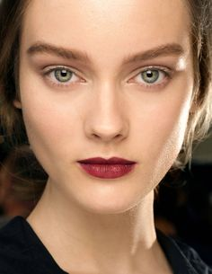A deep berry lip for the holiday party circuit.