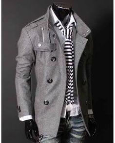 Double PEA Wool Half Trench Coat