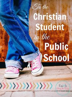 Such a great letter to our kids who are followers of Christ and attend public school! Great tips to equip them to love others like Jesus does and choose friends wisely!