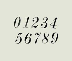 hand lettered serif numbers | serif font inspiration | lettering inspiration
