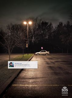 SOS Violence Conjugale: Parking Is at a crossroads with nowhere to go. Social Advertising, Creative Advertising, Print Advertising, Ad Of The World, All Over The World, Parking, Most Visited, Worlds Of Fun, Divorce