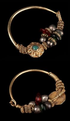 Afghanistan - Herat   Nose ring from the Tajik or Turkmen people; gold, silver, glass beads   © Musée du quai Branly