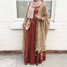 Eid attire made by mother ☺️❤️ - Hope you all have had a good day so far iA Islamic Fashion, Muslim Fashion, Modest Fashion, Formal Fashion, Mode Abaya, Mode Hijab, Modest Dresses, Modest Outfits, Eid Dresses