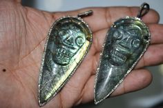 Genuine Natural Labradorite and Pave Diamond by GauravExports