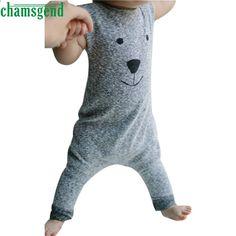 Newborn Baby Girl/¡/¯s Rompers Sleeveless Cotton Onesie Cat Hamburger Print Outfit Funny Jumpsuit Spring Pajamas Bodysuit