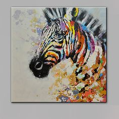 Single Modern Abstract Pure Hand Draw Ready To Hang Decorative Oil Painting Zebra 4666530 2017 – $57.59 Zebra Painting, Oil Painting On Canvas, Canvas Art, Animal Paintings, Animal Drawings, Colorful Animals, Online Painting, Horse Art, Watercolor Art