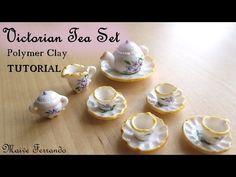 Victorian Tea Party Part 1: Tea Set / Crockery - Polymer Clay TUTORIAL - YouTube