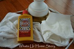 lamp makeover with Brasso