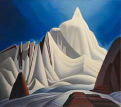 """Mountains in Snow: Rocky Mountain Paintings VII"" by Canadian artist Lawren Harris. Credit The Thomson Collection/Art Gallery of Ontario"