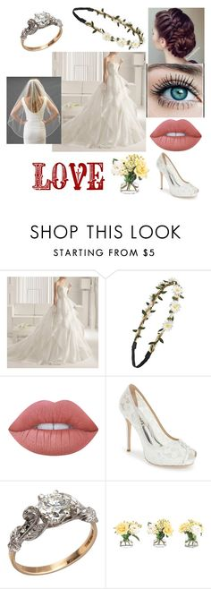 """""""Dream wedding"""" by shanoonflower ❤ liked on Polyvore featuring interior, interiors, interior design, home, home decor, interior decorating, Yacca, BP., Lime Crime and Badgley Mischka"""