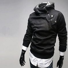 Men's Stand Collar Side Zip Hoodie | The Brothers Cut