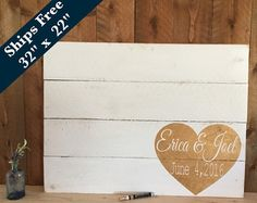 Rustic Wedding Sign Family Name Sign Custom Hand by Girlinair