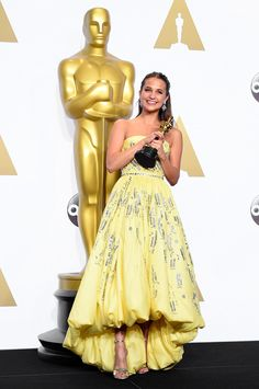 88th Annual Academy Awards - Alicia Vikander besta actress for the Danish Girl
