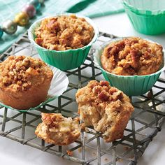 These muffins are simple enough to make with kids. Reheat by wrapping in foil and popping into a 325° oven for 15 minutes.