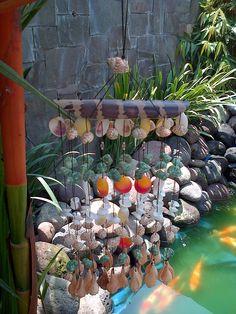 Bamboo Seashell Wind Chime