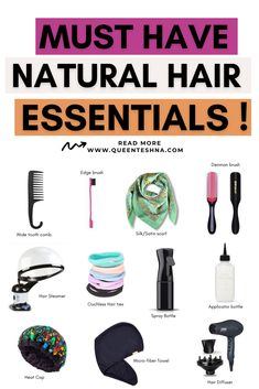 No matter what stage you're at in your natural hair journey, Here are 15 Natural hair essentials tools to help you care and style your hair