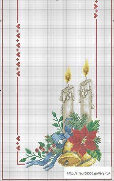 Mantel de navidad a punto cruz