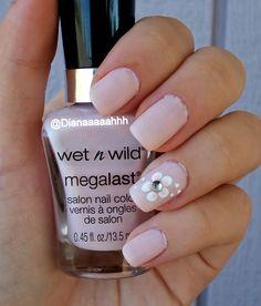 Pastel Pink #Nails #flowernails