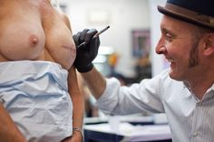 Breast Cancer Survivors Find the Michelangelo of Nipple Tattoos