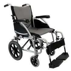 Karman 20 inch Transport Wheelchair with Swing-Away Footrests - 1 ea