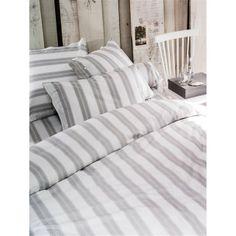 NEWPORT Striped Cotton Duvet Cover