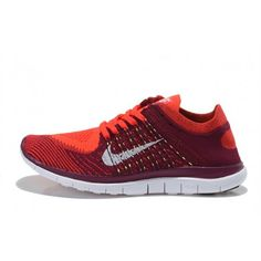 Nike Free Flyknit 4.0 Women Shoes Bright red / raspberry red $66