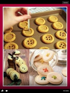 button cookies -- Epicute: Sweet as a Button Cupcakes, Cake Cookies, Sugar Cookies, Making Cookies, Snowman Cookies, Roll Cookies, Sweet Cookies, Yummy Treats, Sweet Treats