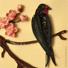 quilled black bird