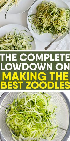 to learn how to cook low carb ZUCCHINI NOODLES perfectly every time? Get the best tips on how to make zoodles with or without a spiralizer, freezing noodles and easy, healthy recipes under 30 minutes. Cook Zucchini Noodles, How To Cook Zucchini, Veggie Noodles, Zucchini Pasta, Zoodle Recipes, Vegetarian Recipes, Spiralizer Recipes, Easy Healthy Recipes, Keto Recipes