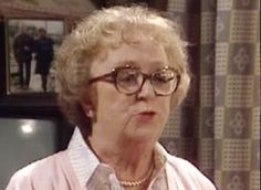 "Last of the Summer Wine (BBC) ""Edie Pegden"" (Thora Hird) wife of ""Wesley the mechanic"" and mother of ""Glenda Wilkinson"" British Sitcoms, British Comedy, British Actresses, Comedy Tv, Comedy Show, English Fashion, European Fashion, Peter Sallis, Last Of Summer Wine"