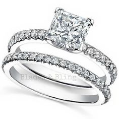 Princess Cut Wedding Set CZ Sterling Silver Size 5 6 7 8 9 Solitaire Engagement | eBay