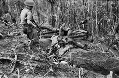 In November Australian soldiers view the bodies of Japanese troops killed on Bougainville. Burma Campaign, War Of The Pacific, Douglas Macarthur, Navy Air Force, East Indies, Army & Navy, Time Photo, Old Pictures, World War Ii