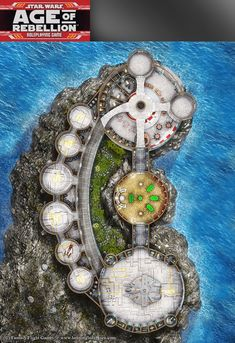 Star Wars, Age of Rebellion roleplaying game map 3 by henning.deviantart.com on @DeviantArt