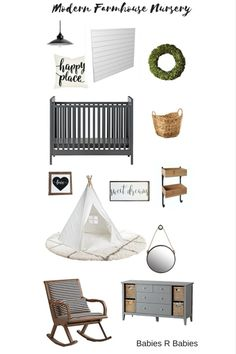 Modern Farmhouse Nursery Design Boards & 11 Awesome ideas to get the Modern Farmhouse style in the baby's nursery