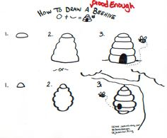 How to draw a Good Enough beehive - tutorial by Jeannel King