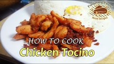 Are you looking for tasty heavy breakfast with pork tocino and fried rice with fried egg on the side? But you are pondering the guilt of eating pork meat again. Rib Recipes, Filipino Recipes, Snack Recipes, Filipino Food, Chicken Tocino, Pork Meat, How To Cook Chicken, Fried Rice, Healthy Snacks