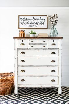Farm style Empire Dresser with General Finishes Milk Paint