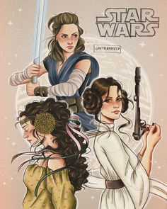 Star Wars Collection - Star Wars Princesses - Ideas of Star Wars Princesses - Rey Princess Leia Organa & Padme Star Wars Fan Art, Rey Star Wars, Star Wars Padme, Star Wars Vans, The Force Star Wars, Star Wars Rebels, Star Trek, Princesa Leia, Star Wars Tattoo