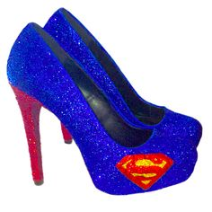 Sparkly Superhero Glitter Heels!  10 OFF with CODE  SPARKLE10 www. glittershoeco.com 8db162a932