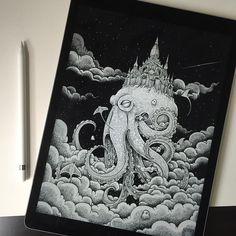 best ideas for kerby rosanes doodle art illustration philippines Art And Illustration, Ink Illustrations, Sketchbook Inspiration, Art Sketchbook, Stylo Art, Arte Indie, Ink Pen Drawings, Pen Art, Doodle Art