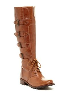 Matisse Battle Lace-Up Buckle Boot