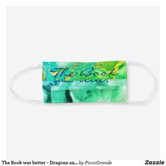 Shop The Book was better - Dragons and geode inspired Cloth Face Mask created by PiccoGrande. Mouth Mask Fashion, Mask Online, Uk Fashion, Mask For Kids, Travel Accessories, Gifts For Her, Bff Gifts, Sensitive Skin, The Book