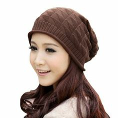 df4092ee7e2 Eforlife Women Girl Triangle Slouchy Knit Beret Beanie Hat Cap Coffee      You can get additional details at the image link.
