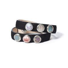 Abverkauf Noosa -  Dieser Noosa Petite Armband (schmal doppelt Schwarz mit Druckknöpfen) gibt es bei uns im Online Shop bereits für nur noch 50% des regulären Preises. Handgemacht und von hoher Qualität. Schmücken Sie Ihr Lederarmband mit den zahlreichen Noosa Chunks immer wieder neu