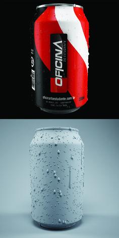 Latinha Refrigerante: Software 3D, Photoshop, renderizado com Vray. Software, Photoshop, 3d, Soft Drink, Campinas, Tin Cans