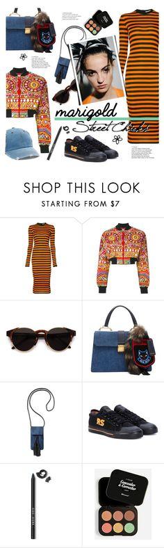 """Marigold on the street"" by edita1 ❤ liked on Polyvore featuring Givenchy, Moschino, RetroSuperFuture, Miu Miu, Rebecca Minkoff, Haider Ackermann, adidas, Bobbi Brown Cosmetics, BHCosmetics and Mudd"