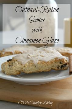 Oatmeal-Raisin Scones