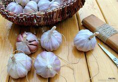 Skladování česneku Korn, Garlic, Vegetables, Ideas, Vegetable Recipes, Thoughts, Veggies